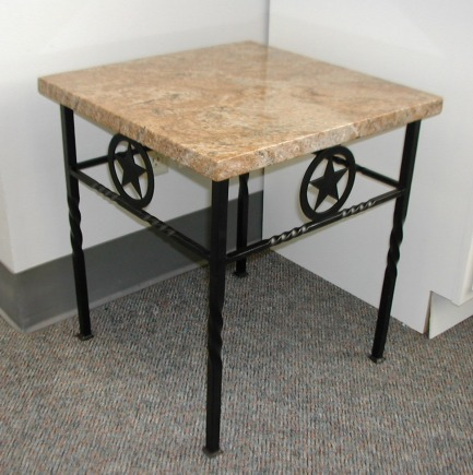 end table with Tx star